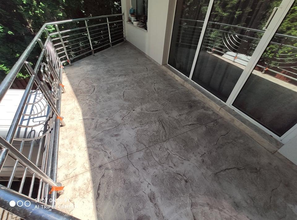 Brąz ecru beton stemplowany phu cimoch